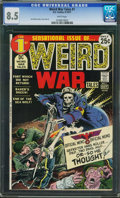 Bronze Age (1970-1979):War, Weird War Tales #1 (DC, 1971) CGC VF+ 8.5 White pages.