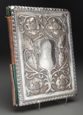 Silver Holloware, British:Holloware, A Mappin and Webb Leather and Silver-Mounted Desk Blotter,Sheffield, England, circa 1921. Marks: (lion passant),(crown),...