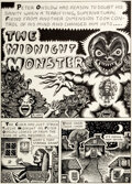 """Original Comic Art:Complete Story, Rory Hayes Insect Fear #3 """"The Midnight Monster"""" Complete 4-Page Story Original Art (Print Mint, 1972).... (Total: 4 Original Art)"""