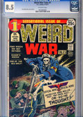 Bronze Age (1970-1979):War, Weird War Tales #1 (DC, 1971) CGC VF+ 8.5 Off-white pages.