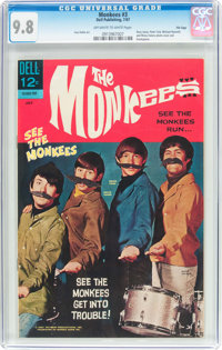 The Monkees #3 File Copy (Dell, 1967) CGC NM/MT 9.8 Off-white to white pages