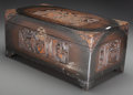 Asian:Chinese, A Chinese Carved Camphor Wood Box, 20th century. 9-3/8 h x 21 w x10-3/4 d inches (23.8 x 53.3 x 27.3 cm). The carved box ...