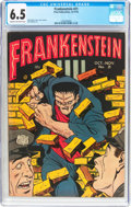Golden Age (1938-1955):Horror, Frankenstein Comics #21 (Prize, 1952) CGC FN+ 6.5 Cream tooff-white pages....