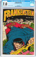 Golden Age (1938-1955):Horror, Frankenstein Comics #22 (Prize, 1953) CGC FN/VF 7.0 Cream tooff-white pages....