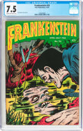 Golden Age (1938-1955):Horror, Frankenstein Comics #24 (Prize, 1953) CGC VF- 7.5 Cream tooff-white pages....