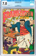 Golden Age (1938-1955):Horror, Frankenstein Comics #29 (Prize, 1954) CGC FN/VF 7.0 Cream tooff-white pages....