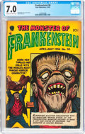 Golden Age (1938-1955):Horror, Frankenstein Comics #30 (Prize, 1954) CGC FN/VF 7.0 Cream tooff-white pages....