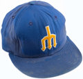 Baseball Collectibles:Hats, 1970's Larry Cox Game Worn Seattle Mariners Cap. ...