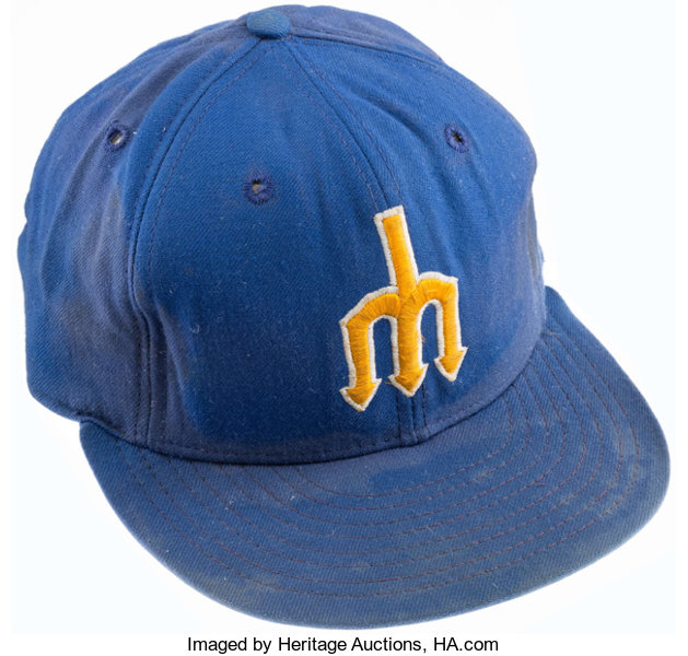 34481f0a 1970's Larry Cox Game Worn Seattle Mariners Cap. ... Baseball | Lot ...