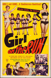 "Girl on the Run (Astor Pictures, 1953). One Sheet (27"" X 41"") & Uncut Pressbook (4 Pages, 11"" X 17&qu..."