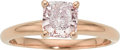 Estate Jewelry:Rings, Fancy Purple-Pink Diamond, Pink Gold Ring. ...