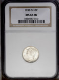 Mercury Dimes: , 1938-D 10C MS65 Full Bands NGC. NGC Census: (297/644). PCGS Population (960/1063).Mintage: 5,537,000. Numismedia Wsl. Price...