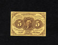 Fractional Currency:First Issue, Fr. 1230 5c First Issue Superb Gem New. Four full and completemargins are found on this first issue straight edge type. Th...
