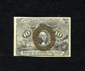"""Fractional Currency:Second Issue, Fr. 1246 10c Second Issue Very Choice New. A lovely example of this number with """"S-18-63"""" surcharges which are much clearer ..."""