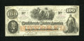 Confederate Notes:1862 Issues, T41 $100 1862. Light handling is detected on this AboutUncirculated Scroll 1 C-note....