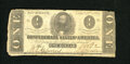 Confederate Notes:1862 Issues, T55 $1 1862. Edge furling is noticed on this Very Good Ace....