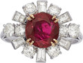 Estate Jewelry:Rings, Burma Ruby, Diamond, Gold Ring, Chaumet, French. ...