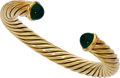 Estate Jewelry:Bracelets, Chrysoprase, Gold Bracelet. . ...