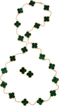 Estate Jewelry:Suites, Malachite, Gold Jewelry Suite. ... (Total: 3 Items)