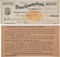"""Autographs:Celebrities, Kate """"Big Nose Kate"""" Holliday: A Very Rare and Important 1881 CheckMade Out to and Endorsed by Her, and Possibly by """"Doc"""" Hol..."""