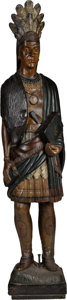Hand Carved American Tobacconist Cigar Store Indian
