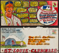 Baseball Collectibles:Others, George Sosnak Artwork Envelopes from The Stan Musial Collection....