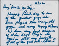 Autographs:Bats, Handwritten Letter from George Steinbrenner from The Stan MusialCollection. ...