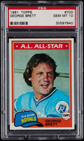 Baseball Cards:Singles (1970-Now), 1981 Topps George Brett #700 PSA Gem Mint 10....