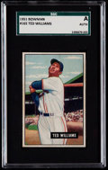Baseball Cards:Singles (1950-1959), 1951 Bowman Ted Williams #165 SGC Authentic....
