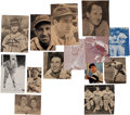 Baseball Collectibles:Photos, 1940's Hall of Famers Signed Photographs Lot of 38....
