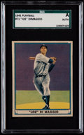 Baseball Cards:Singles (1940-1949), 1941 Play Ball Joe DiMaggio #71 SGC Authentic....