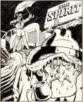 Original Comic Art:Splash Pages, Lou Fine with Will Eisner The Spirit Sunday ComicsSupplement Splash Original Art dated 9-19-43 (Register &Tribun...