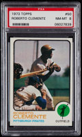 Baseball Cards:Singles (1970-Now), 1973 Topps Roberto Clemente #50 PSA NM-MT 8....