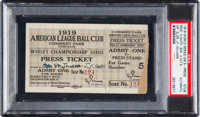 1919 World Series Game Five Press Ticket from The Joe Carr Find