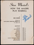 "Autographs:Others, Signed Stan Musial ""How The Majors Play Baseball"" Booklet. ..."