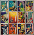 "Non-Sport Cards:Sets, 1957-58 R714-20a Topps ""Space Cards"" Complete Set (88) Plus FourPink Card Variations. ..."