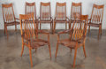 Furniture , Sam Maloof (American, 1916-2009). A Set of Eight Dining Chairs, 1994. California walnut. 43 x 24 x 25 inches (109.2 x 61... (Total: 8 Items)