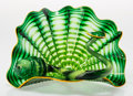 Art Glass:Other , Dale Chihuly (American, b. 1941). Two-Piece Emerald GreenPersian Set with Yellow Lip Wrap, late 20th century. Blowngla...