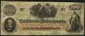 "Confederate Notes:1862 Issues, ""Depository Savannah"" T41 $100 1862 PF-21 Cr. UNL.. ..."