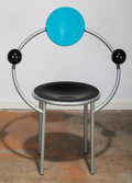 Furniture : Continental, Michele De Lucchi (Italian, b. 1951). First Chair, designed1983, Memphis. Enameled steel, lacquered wood and rubber. 36...