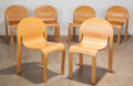 Furniture : American, Peter J. Danko (American, 1949). Six Eco-Eden Chairs, 1982.Ash plywood. 32-3/4 x 21-1/8 x 21 inches (83.2 x 53.7 x 53.3...(Total: 6 Items)