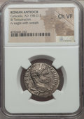 Ancients:Roman Provincial , Ancients: SYRIA. Antioch. Caracalla (AD 198-217). AR tetradrachm.NGC Choice VF....