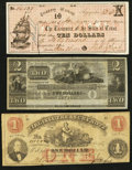 Obsoletes By State:Mixed States, Trio of Obsolete Bank Notes from Rhode Island, Texas, and VA ca. 1840s-1862... (Total: 3 notes)