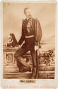 Photography:Cabinet Photos, George Armstrong Custer: 1876 Cabinet Card....