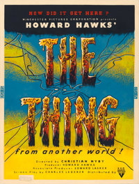 "The Thing from Another World (RKO, 1951). Silk Screen Poster (30"" X 40"")"