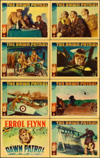 "The Dawn Patrol (Warner Brothers, 1938). Linen Finish Lobby Card Set of 8 (11"" X 14""). ... (Total: 8 Items)"