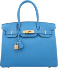 Luxury Accessories:Bags, Hermes 30cm Blue Paradis Epsom Leather Birkin Bag with GoldHardware. X, 2016. Excellent to Pristine Condition.12...