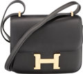 Luxury Accessories:Bags, Hermes 18cm Black Swift Leather Double Gusset Constance Bag withGold Hardware. X, 2016. Excellent to PristineConditi...