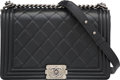 "Luxury Accessories:Bags, Chanel Black Quilted Lambskin Leather Boy Bag . ExcellentCondition. 10.5"" Width x 7"" Height x 3"" Depth. ..."