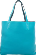 Luxury Accessories:Bags, Hermes Turquoise & Colvert Clemence Leather Double Sens GMReversible Tote Bag. R Square, 2014. Excellent to PristineCond...